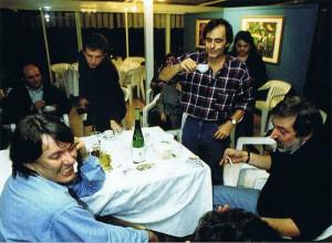 A tavola Fabrizio De André, Francesco Guccini e Roberto Vecchioni