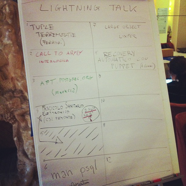Lightning talk @ #pgday2012