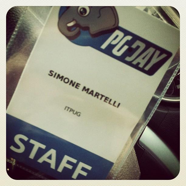 Principiamo su... #pgday2012 #prato #itpug