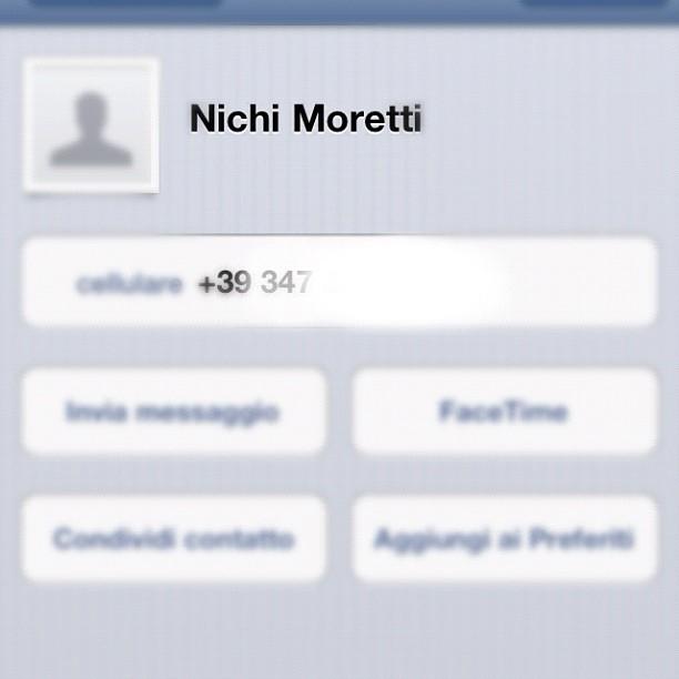 Non è da tutti avere il numero di Nichi Moretti #14dicembre #prato