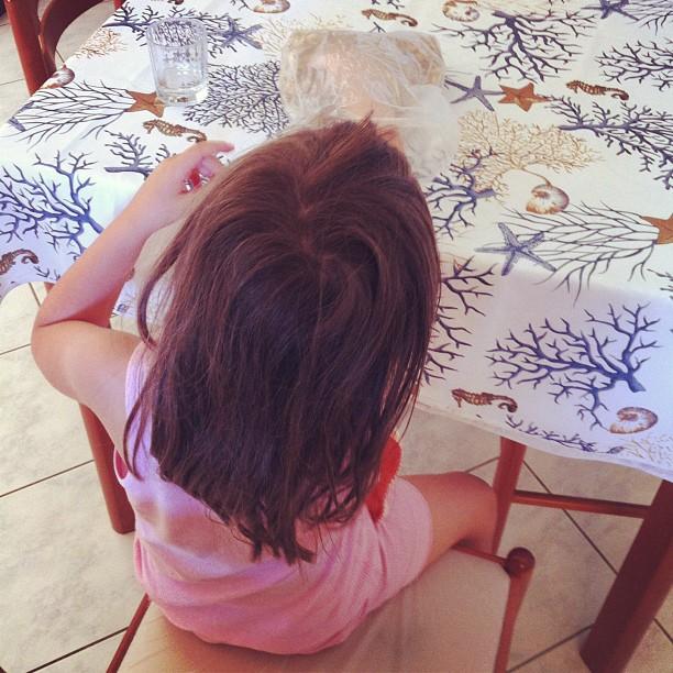 Stamani si dà cereali a paperelle immaginarie#vacanzaconverdun