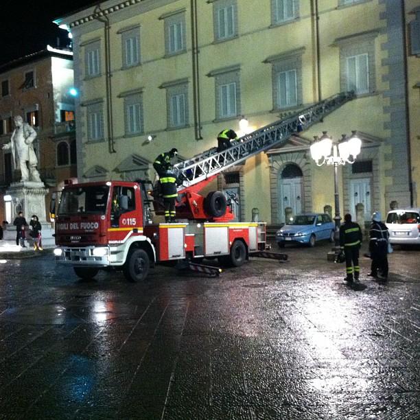 Pompieri al lavoro #prato
